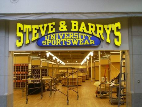 SB_Steve and Barrys University Sportswear mall storefront