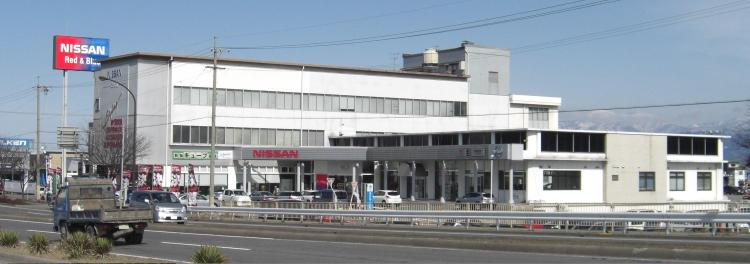 Nissan_Red_and_Blue_Stage_Nagano_dealership_corporate_office