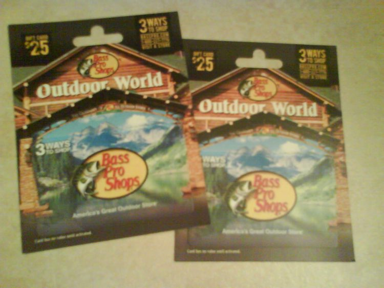 DSC12655 Outdoor Store Bass Pro Shops gift cards