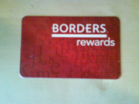 DSC13745 Borders - Borders Rewards card