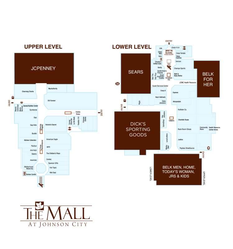 Pals 08 Directory Map The Mall at Johnson City