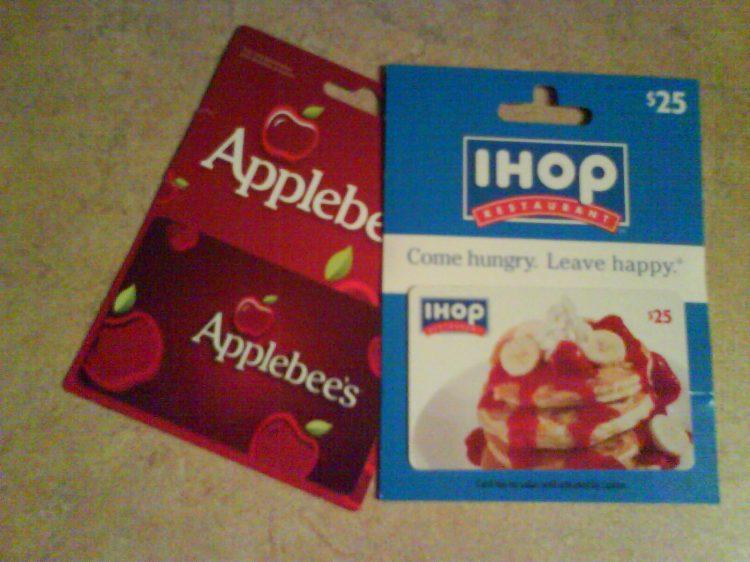 DSC13934 IHOP - IHOP Applebees Gift card